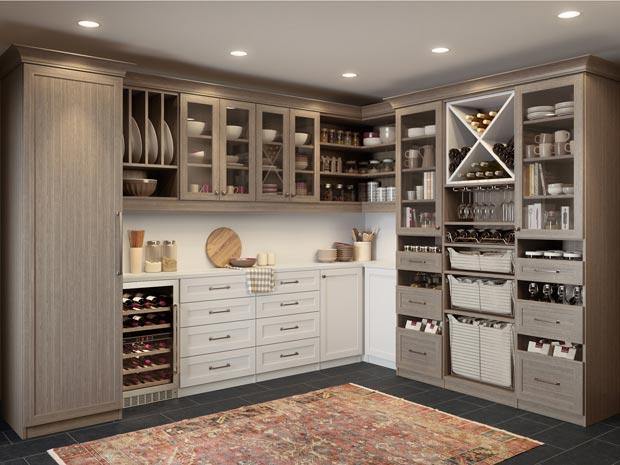 Kitchen pantry cabinets organization ideas california for Pantry closet design ideas