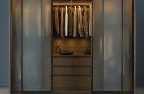 California Closets - Urban Wardrobe with Frosted Sliding Doors