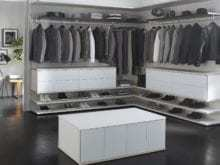 California Closets - High Gloss Walk-In Custom Closet