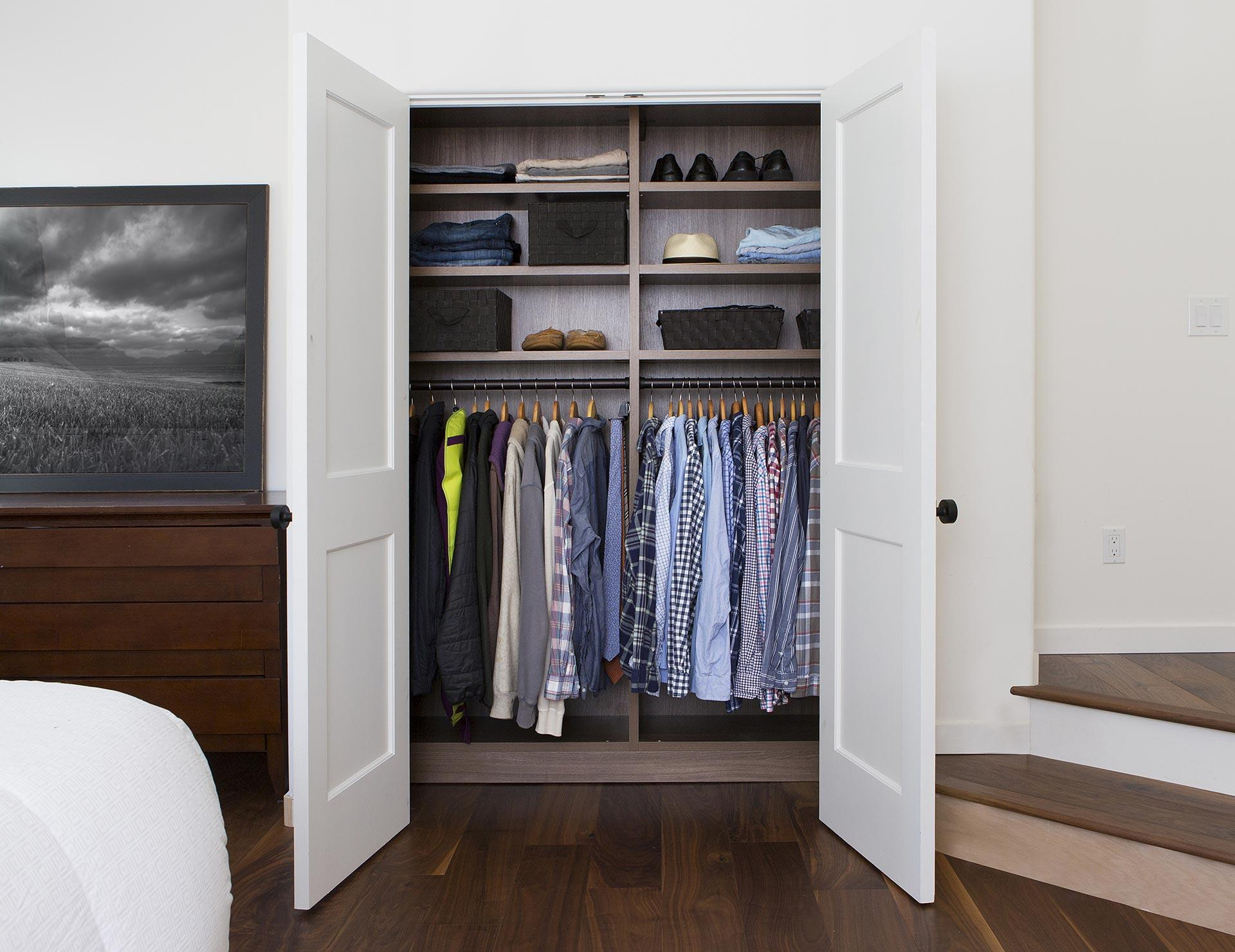 California Closets Coffman Bedroom Reach In Closet 2