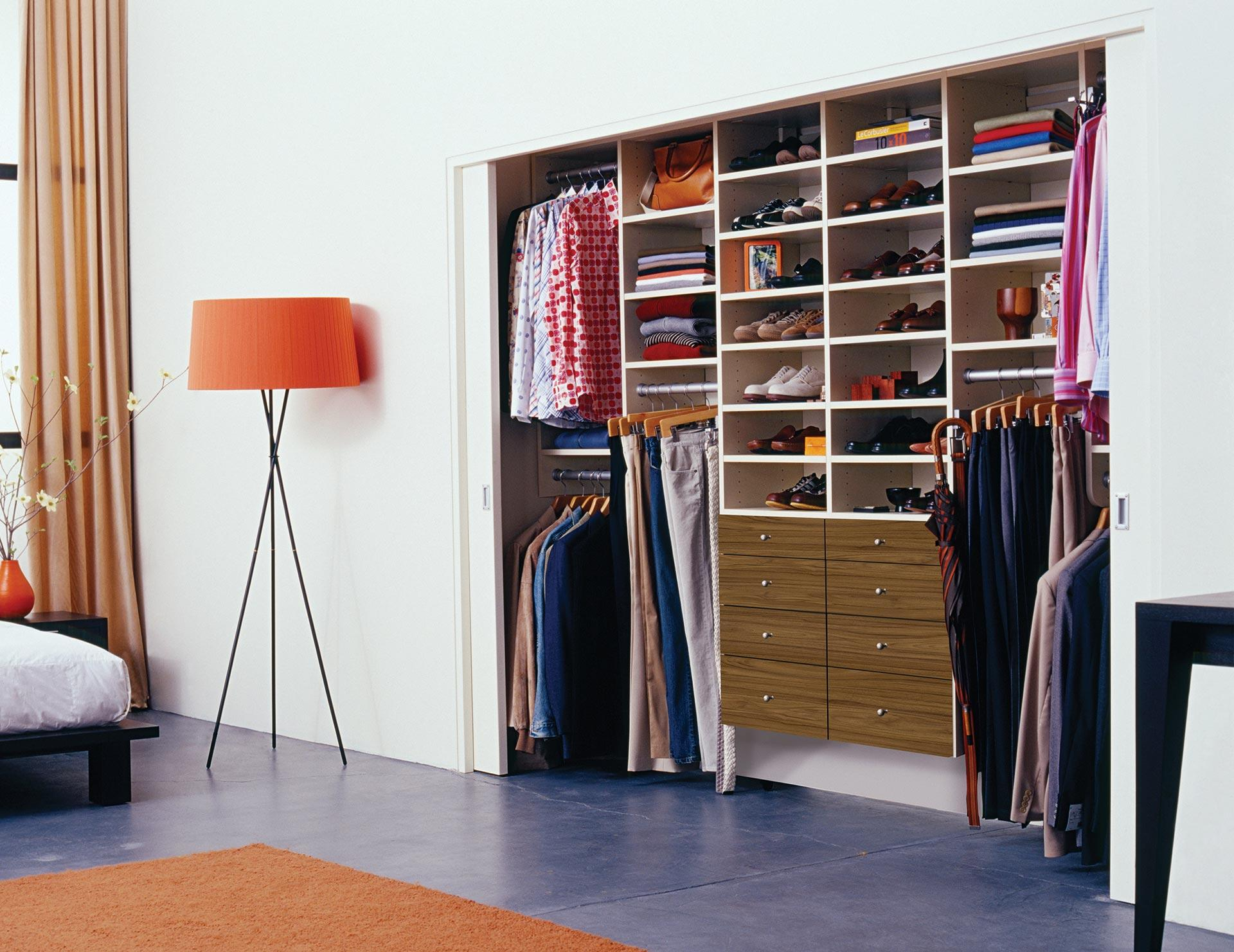california closets reach in custom closet - Custom Closet Design Ideas