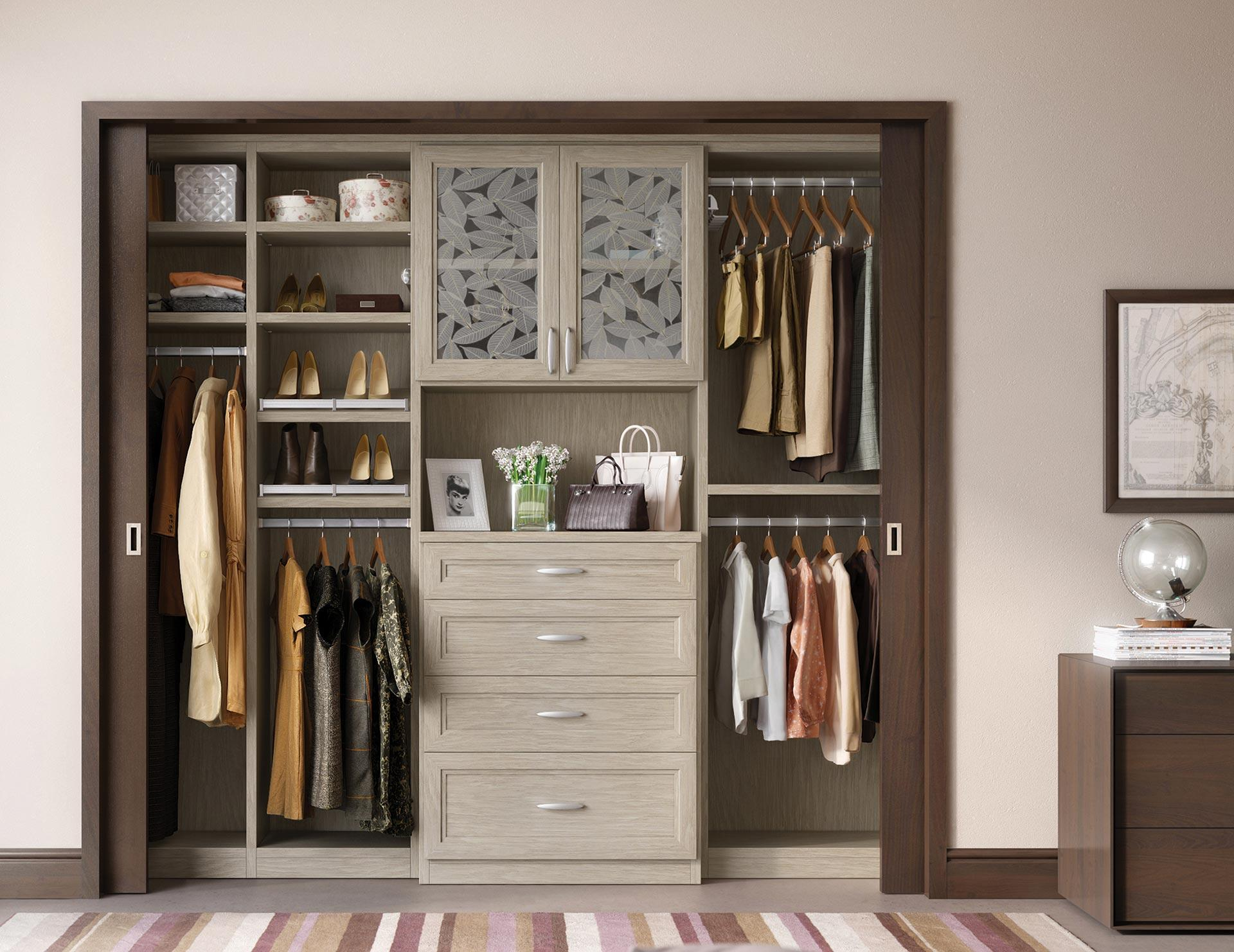 Reach in closets designs ideas by california closets Closet layout ideas
