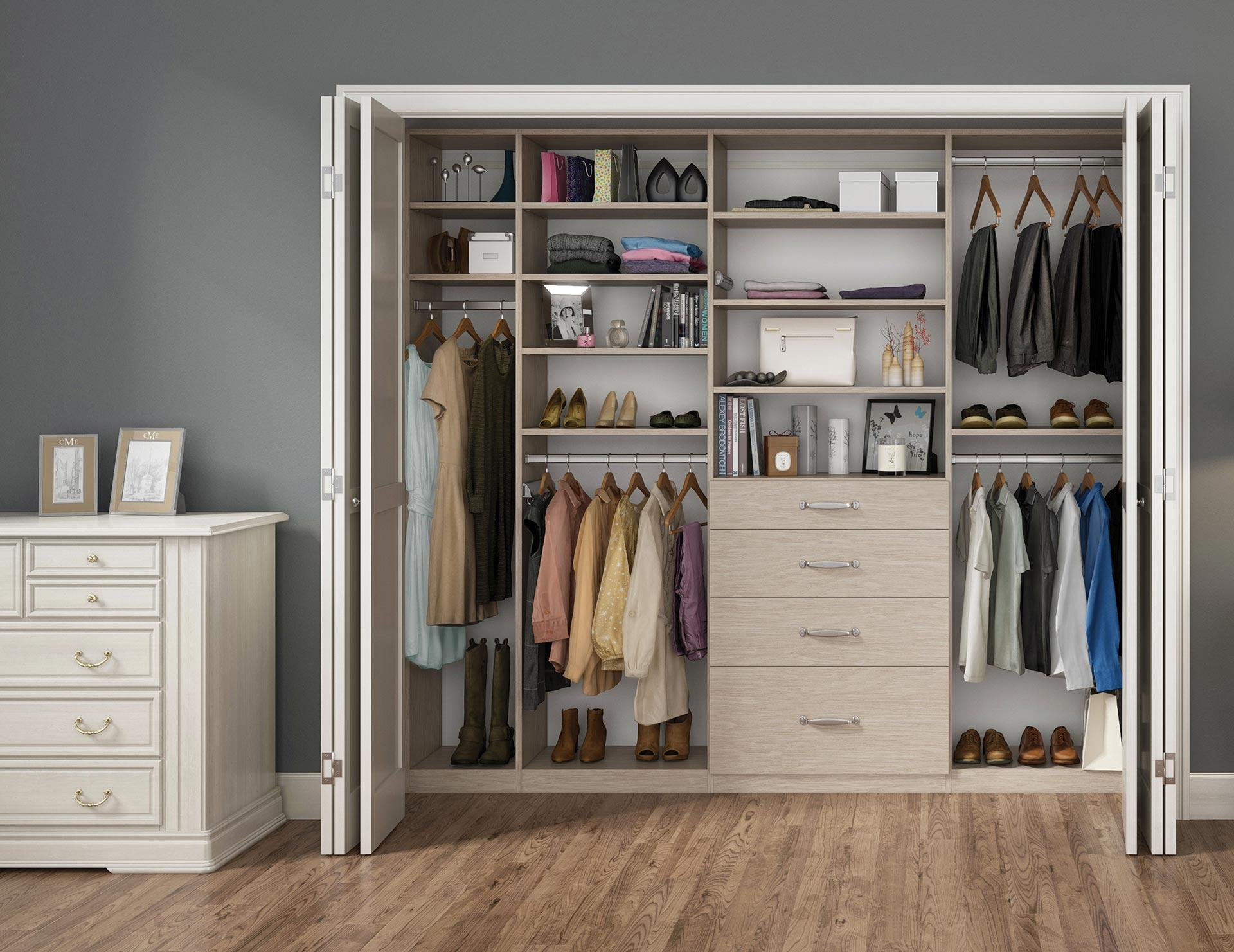 Reach in closets designs ideas by california closets for Decor systems