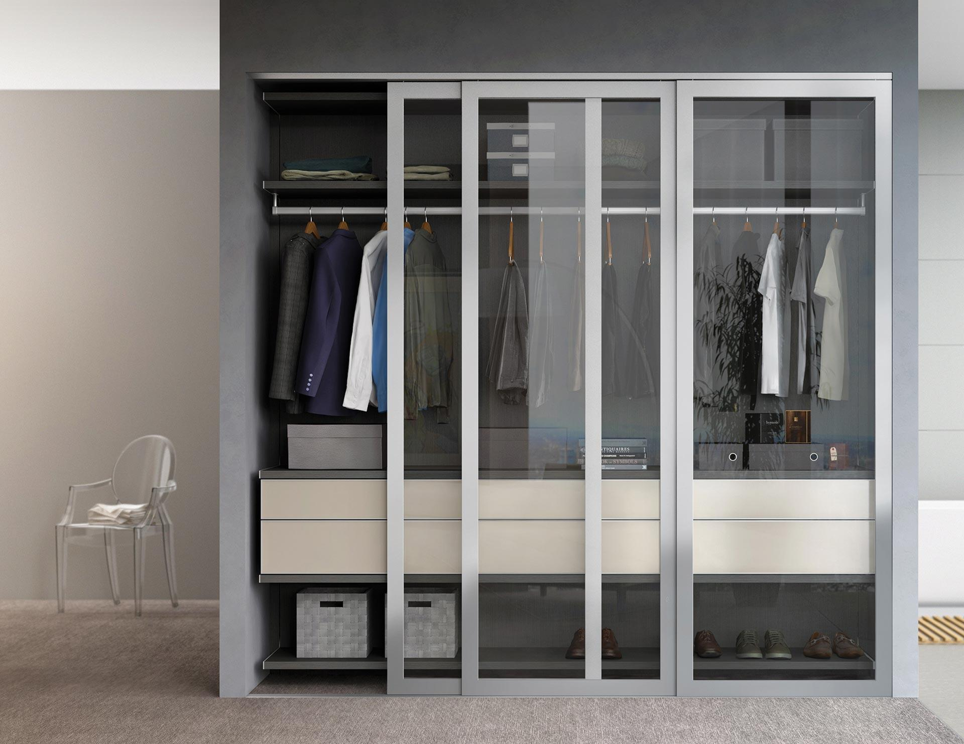 Reach In Closet Organization Ideas Part - 30: California Closets - Reach-In Custom Closet With Sliding Doors