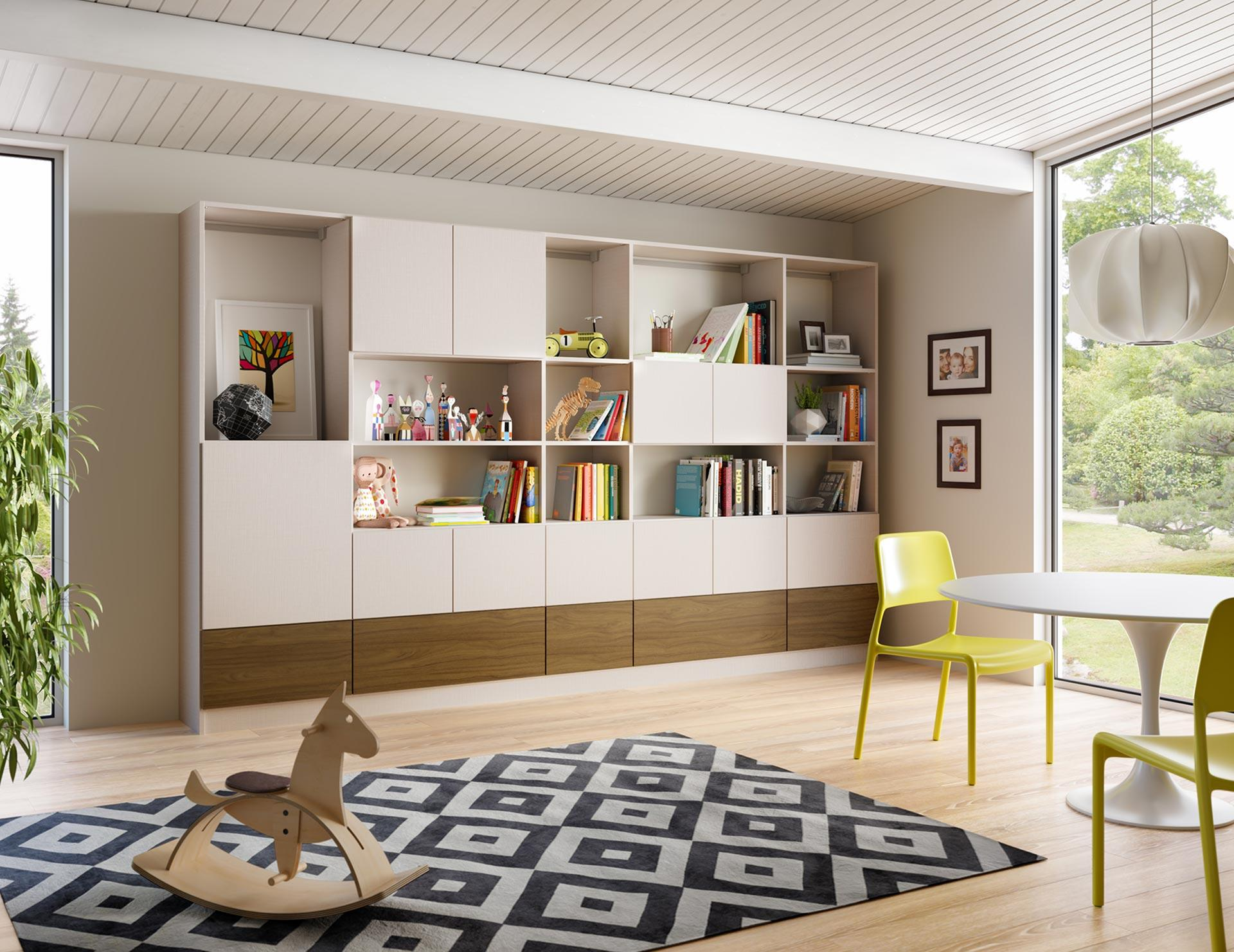 Home library bookcases shelves solutions california for Family home storage