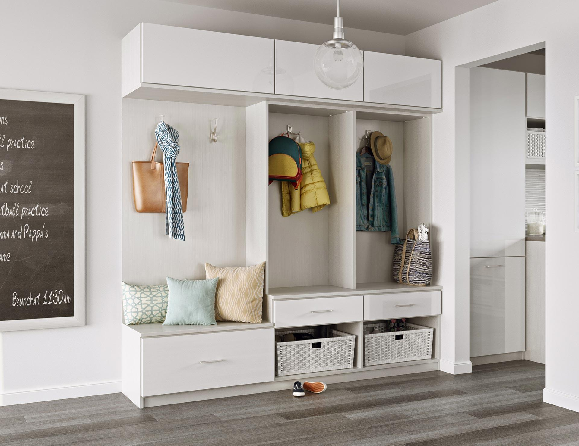 Design Mud Room mudroom storage entryway organization california closets custom solutions