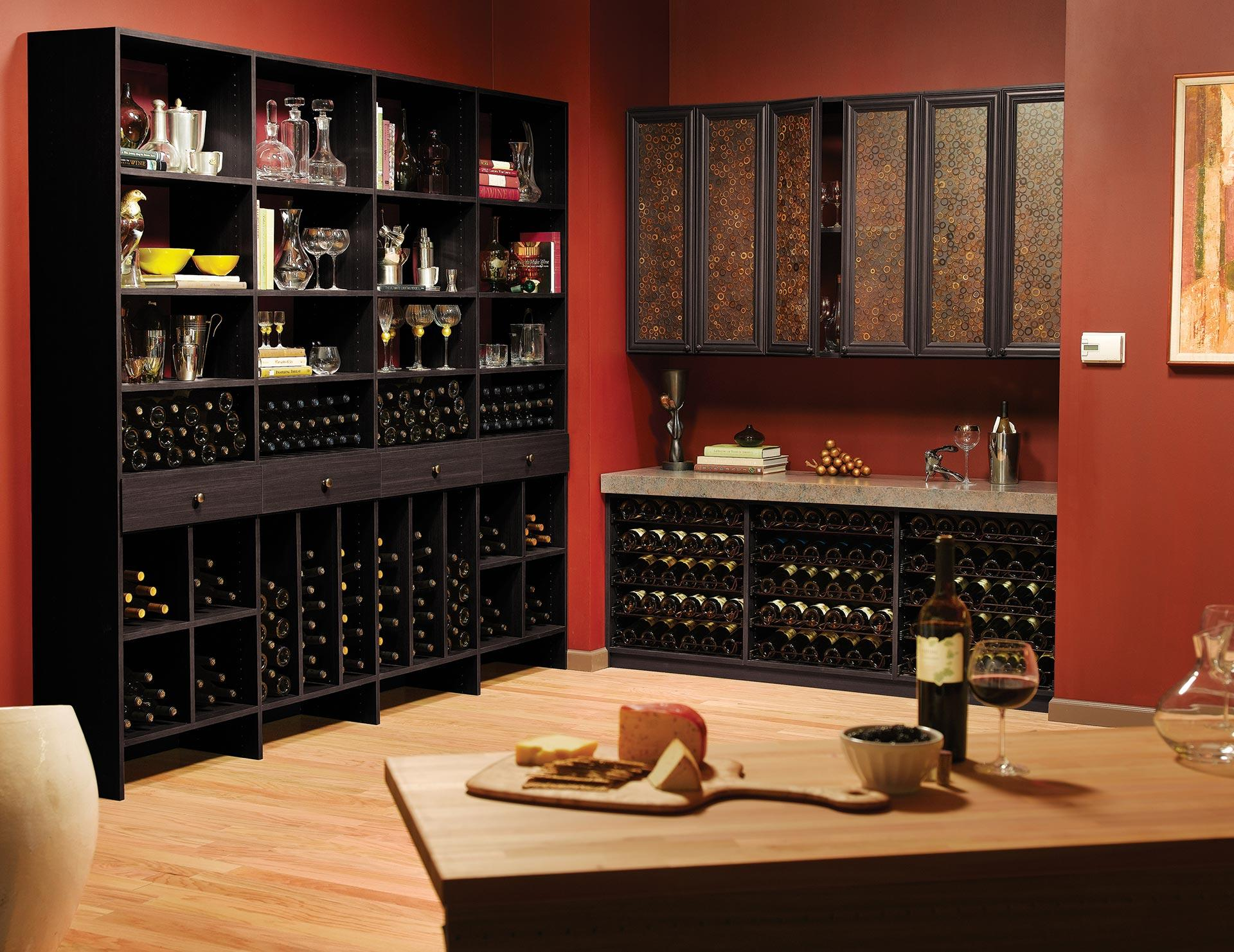 California Closets Custom Wine Storage Solutions