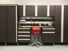 Workbench Storage Cabinets in Garage
