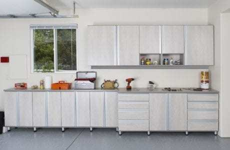 Garage Storage Cabinets in white