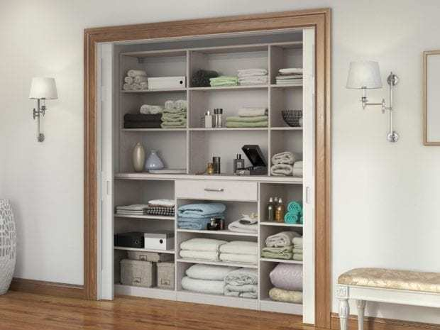 California Closets - Custom Linen Closet