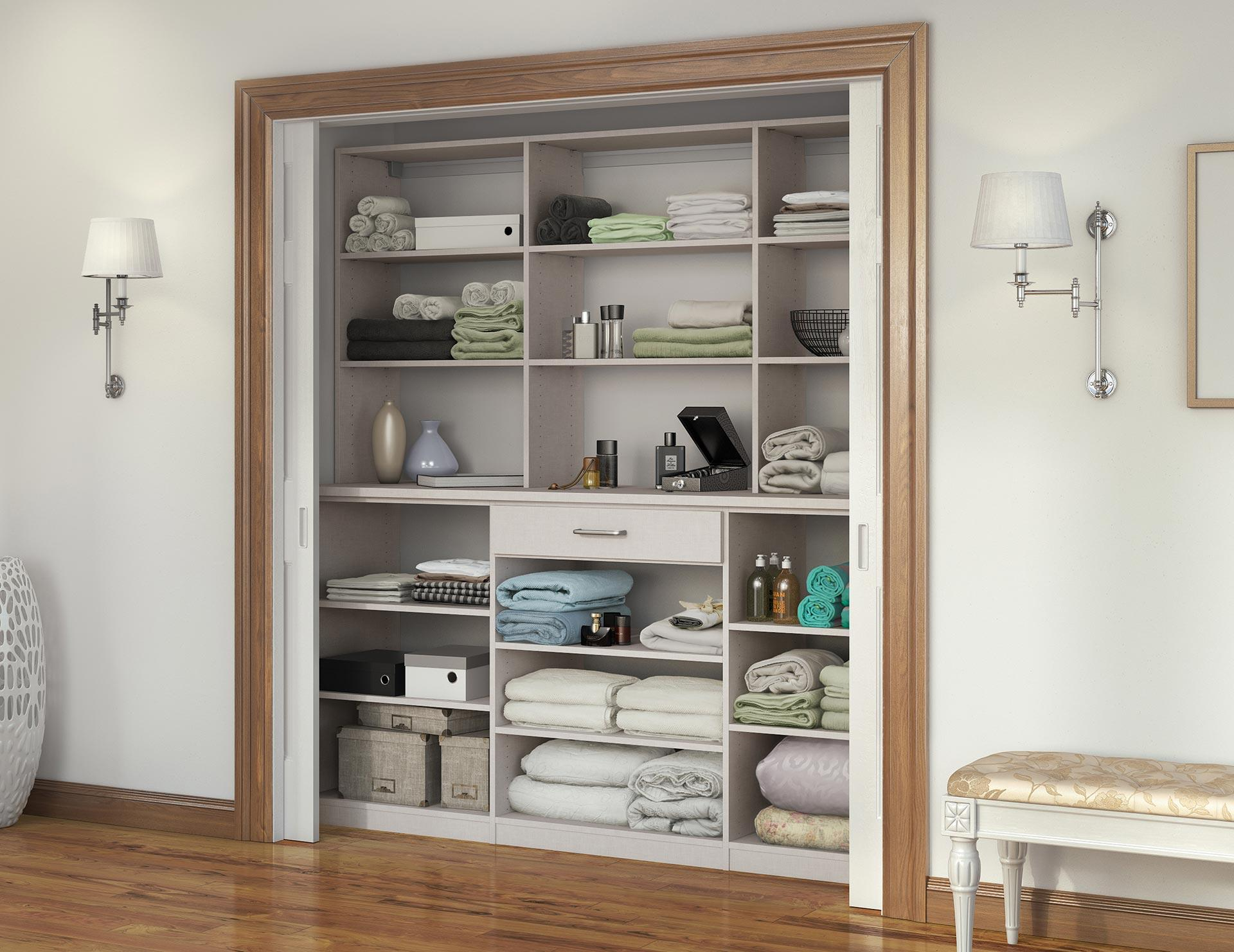 Gentil California Closets   Custom Linen Closet