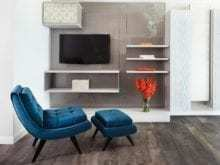 California Closets - Custom Entertainment Center Storage System