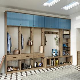 California Closets - Mudroom Storage Solution