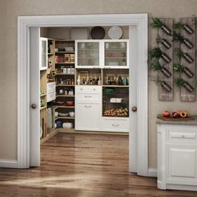 California Closets - Chef's Pantry Kitchen Storage Solution
