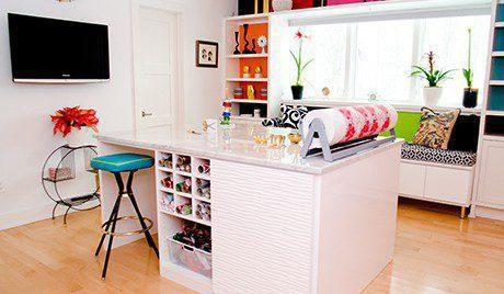Stylish craft room with a vintage twist california closets for California closets craft room
