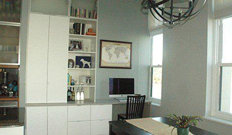 Susan and Matthew Blake - Installed Cabinets in Client's home.