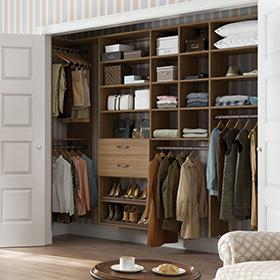 California Closets - Delancey Reach in Closets Storage System