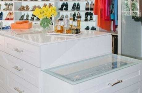 California Closets - Countertops with Frosted Glass