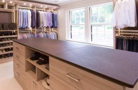 California Closets - Leather Countertops
