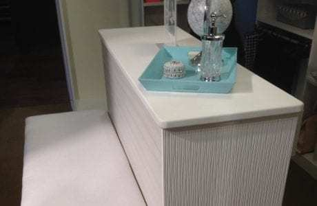 California Closets - White Leather Countertop