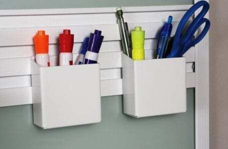 California Closets - Office Fusion Track Wall System Storage