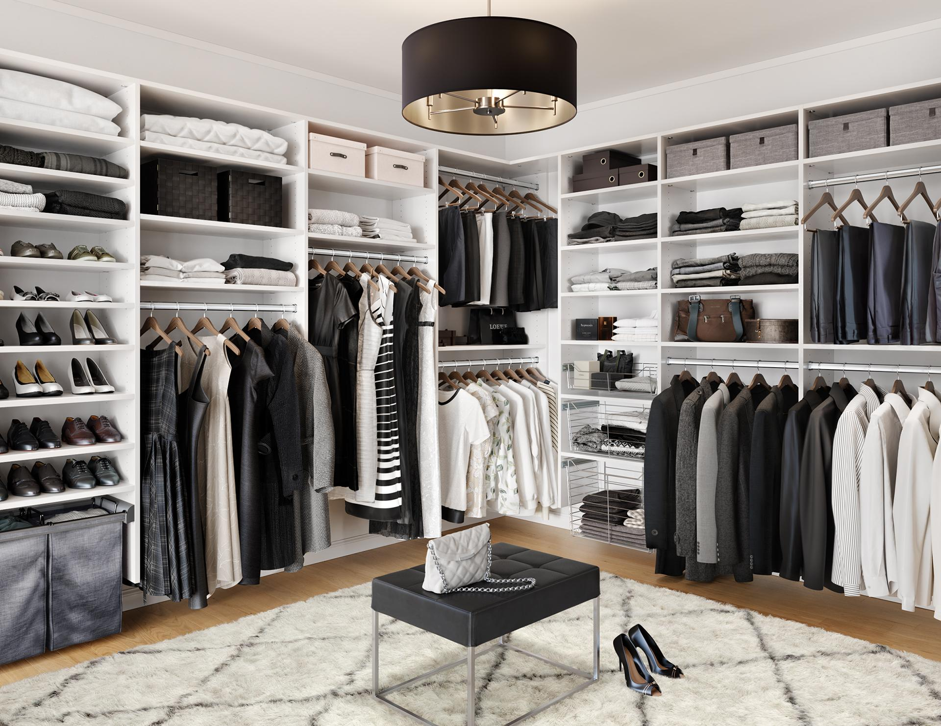 Walk in closets designs ideas by california closets for Designs for walk in closets