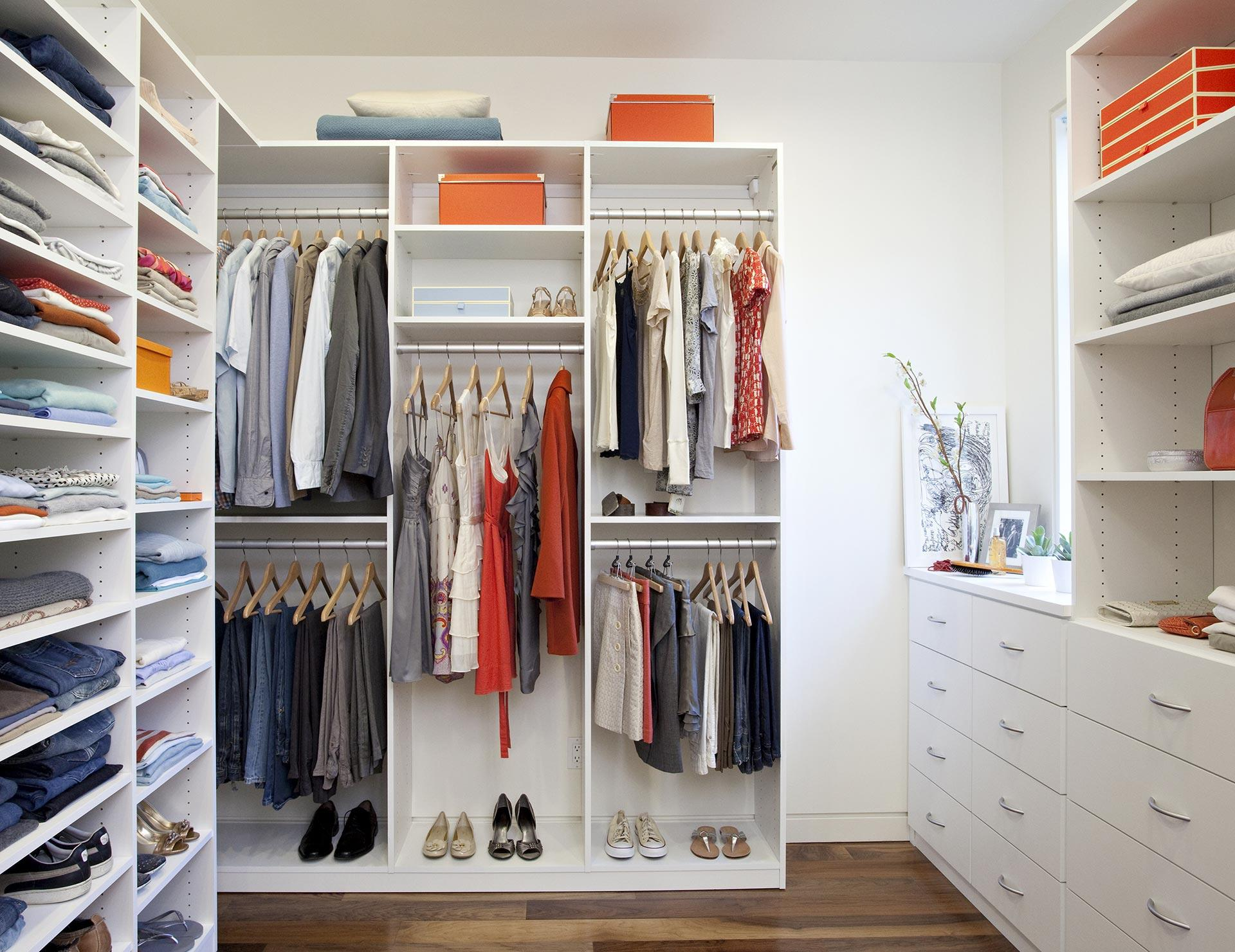 Walk in closets designs ideas by california closets for Adding a walk in closet