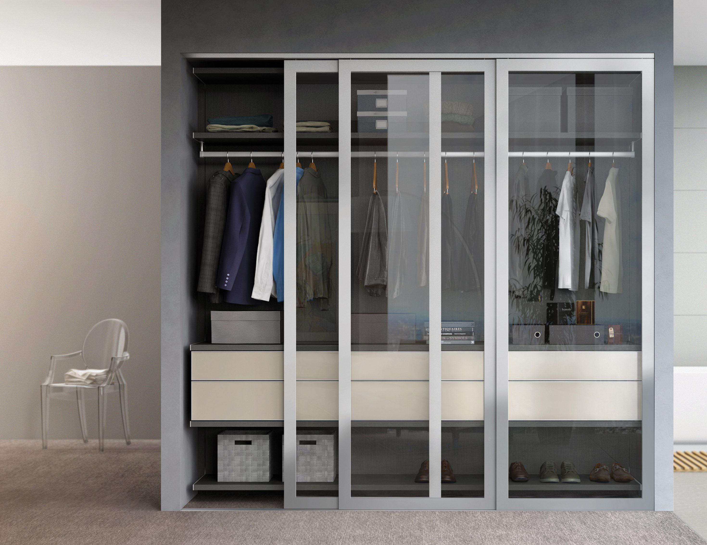 Modern closet systems organizers california closets for Unique design milano