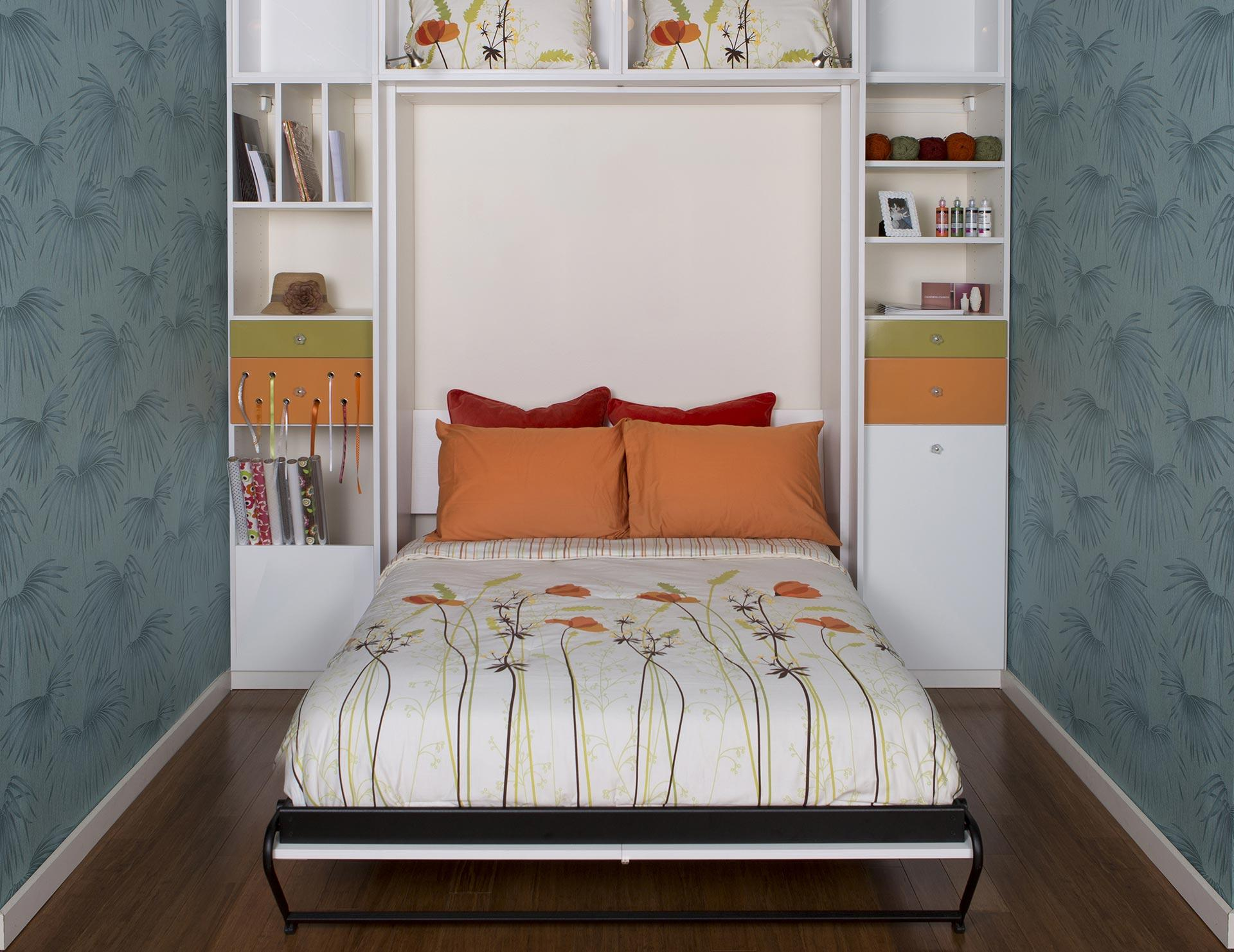 Murphy beds wall bed designs ideas by california closets california closets custom murphy bed with storage amipublicfo Images