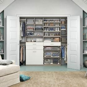 California Closets   Seaside Attic Reach In Closet Storage System
