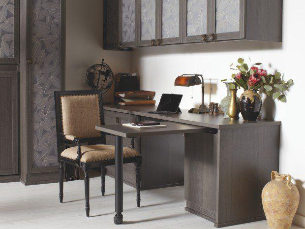 Simon Convertible Office with Lago Milano Grey Finish