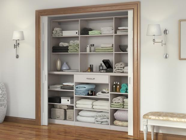 Linen Cabinets Amp Hall Closet Organizers By California Closets