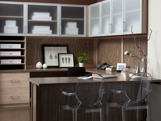 Thatcher Home Office with Lago Roman Walnut Finish