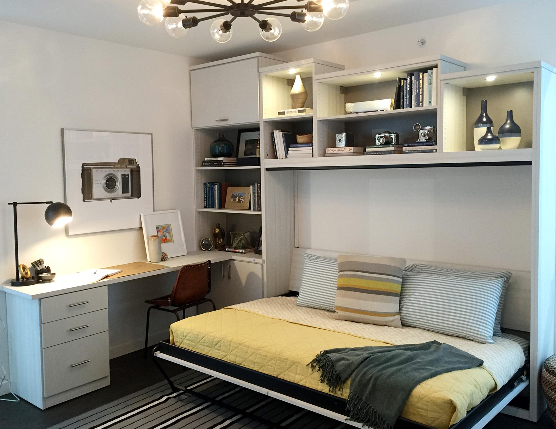 Murphy beds wall bed designs ideas by california closets california closets wall bed office guestroom amipublicfo Gallery