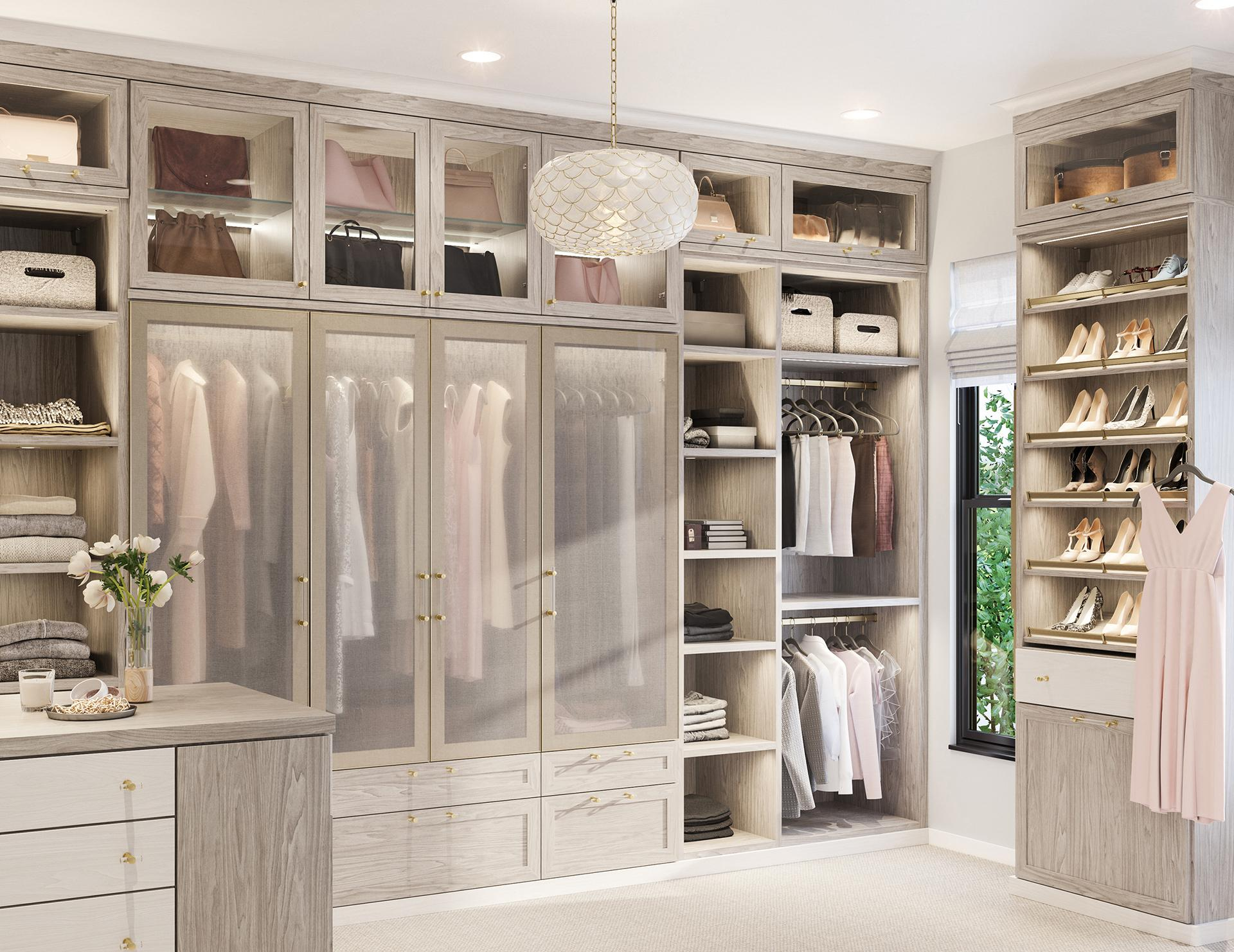 Walk In Closet Design Ideas Light With Pull Out Rack Accessories By California Closets